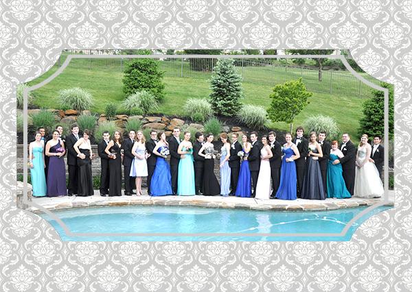 Prom 2013 group photo cobalt blue dress